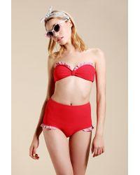 Urban Outfitters - Red Uo Ruffle Bikini - Lyst