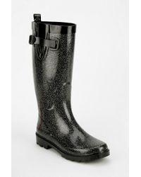 Urban Outfitters Black Capelli Glitter Rain Boot