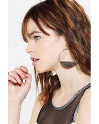 Urban Outfitters | Metallic Half Moon Hoop Earring | Lyst