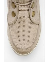 Urban Outfitters Natural Mia Flavor Snap Hidden Wedge Hightop Sneaker