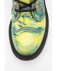 Urban Outfitters Multicolor John Fluevog Swirly Leather Laceup Boot for men