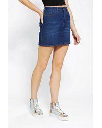 Urban Outfitters - Blue Bdg Denim Mini Skirt - Lyst