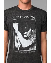 Urban Outfitters - Black Joy Division Love Will Tear Us Apart Tee for Men - Lyst