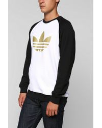 Urban Outfitters - White Adidas Sportlite Pullover Sweatshirt for Men - Lyst