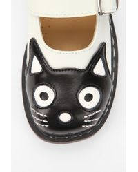 Urban Outfitters White Tuk Cat Face Mary Jane