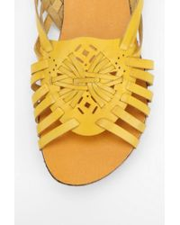 Urban Outfitters Yellow Ecote Floral Medallion Sandal