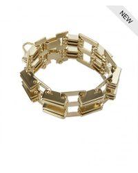 AllSaints - Metallic Memphis Bracelet - Lyst
