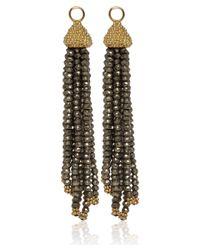 Annoushka Metallic Gold and Pyrite Alchemy Tassel Earring Drops