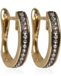 Annoushka | Metallic Gold Diamond Eclipse Porcupine Hoop Earrings | Lyst