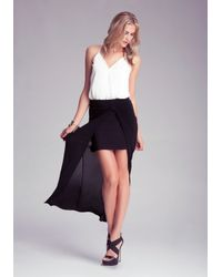Bebe Black Maxi Open Front Skirt
