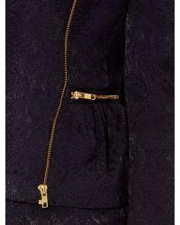 Biba Blue Peplum Textured Jacket