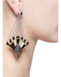 Eddie Borgo - Gray Horus Drop Earrings - Lyst