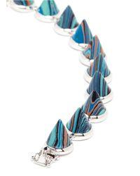 Eddie Borgo | Blue Marbled Gemstone Cone Bracelet | Lyst