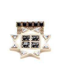 Etro Metallic Crystalembellished Brooch