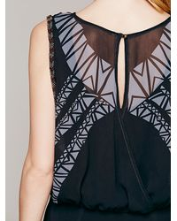 Free People   Black Aztec Print Dress   Lyst