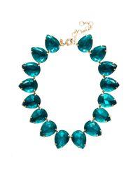 J.Crew Blue Pear Necklace