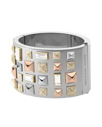 Michael Kors - Gray Pyramidstud Bangle Multicolor - Lyst
