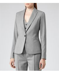 Reiss Gray Tomley Arc Tailored Jacket