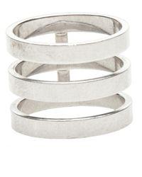 Repossi White Three Layer Berbere Ring