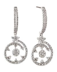 Roberto Coin White Diamond Pave Swirl Earrings