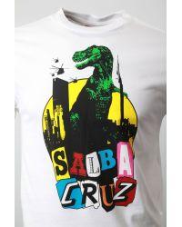 Santa Cruz White Salbasaurus Tshirt for men