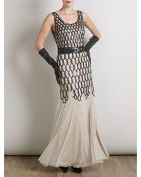 Somerset by Alice Temperley Metallic Sequin Long Dress