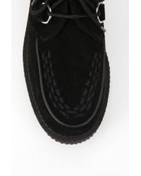 Urban Outfitters Black Tuk Low Sole Suede Creeper
