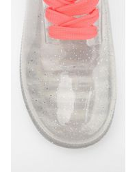 Urban Outfitters Multicolor Juju Footwear Glitter Laceup Rain Boot