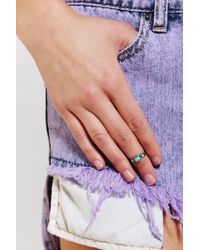 Urban Outfitters | Blue Stone Midi Ring | Lyst