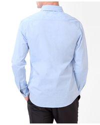 Forever 21 - Blue Polka Dot Trim Shirt for Men - Lyst