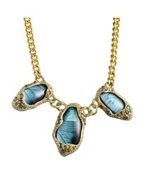 Alexis Bittar | Blue Jardin De Papillon Butterfly Necklace | Lyst