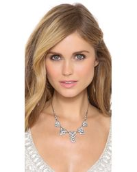 Ben-Amun - Metallic Deco Crystal Necklace - Clear - Lyst