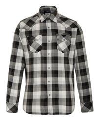 DIESEL Black Mens Long Sleeve Check Shirt for men