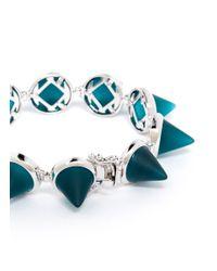 Eddie Borgo - Blue Frosted Glass Cone Bracelet - Lyst