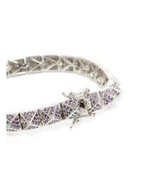 Eddie Borgo | Purple Small Crystal Pavé Pyramid Bracelet | Lyst