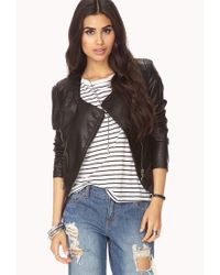 Forever 21 | Black Active Striped Athletic Jacket | Lyst