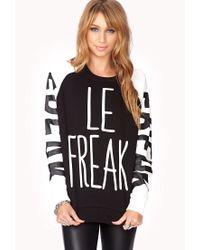 Forever 21 - Black Conversation-starting Le Freak Sweatshirt - Lyst