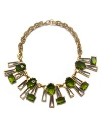 Gerard Yosca | Green and Clear Crystal Necklace | Lyst