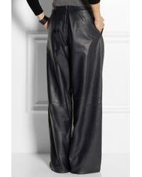 J.W.Anderson Blue Wideleg Leather Pants