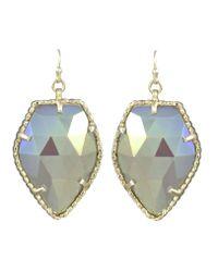 Kendra Scott | Metallic Corley Earrings Gold Iridescent Agate | Lyst