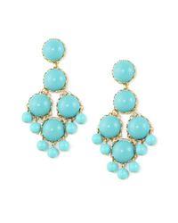 Loren Hope   Blue Dabney Large Chandelier Earrings Turquoise   Lyst
