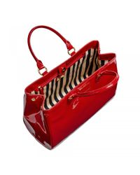 Lulu Guinness Red Patent Leather Large Amelia