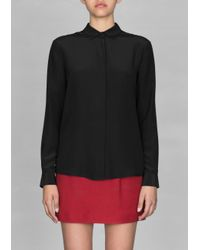 & Other Stories Black Silk Blouse