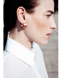 & Other Stories | Metallic C-Shaped Earrings | Lyst