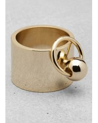 & Other Stories - Metallic Chunky Stud Ring - Lyst