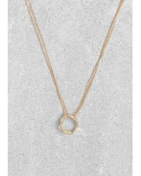 & Other Stories | Metallic Circle Pendant Necklace | Lyst