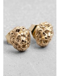 & Other Stories - Metallic Lion Stud Earrings - Lyst