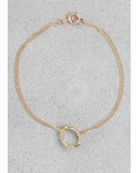 & Other Stories - Metallic Pendant Bracelet - Lyst