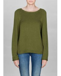 & Other Stories Green Silk cotton Sweater