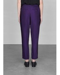 & Other Stories Purple Cropped Trousers